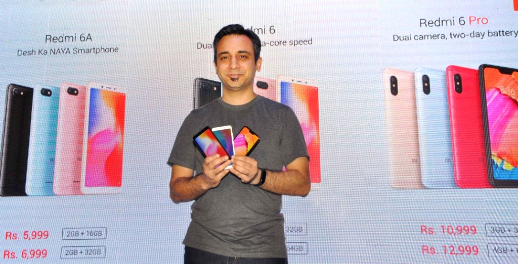 Xiaomi India Chief Marketing Officer Anuj Sharma at the launch of Xiaomi Redmi 6 series smartphones - Xiaomi Redmi 6, Redmi 6A and Redmi 6 Pro smartphones, in Kolkata on Sept 6, 2018.