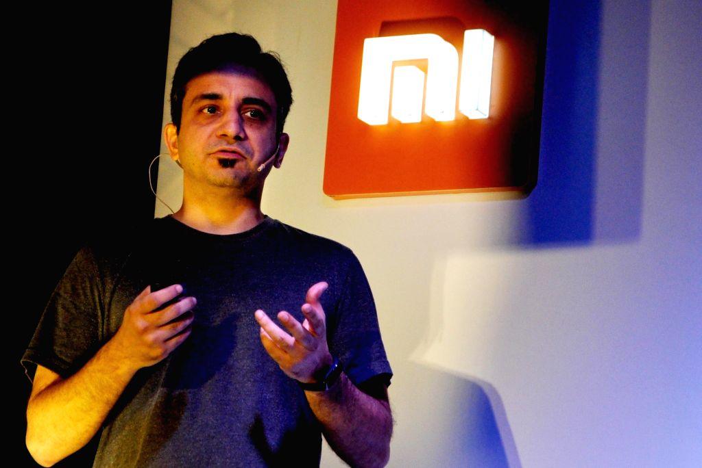 Xiaomi India Chief Marketing Officer Anuj Sharma addresses at the Xiaomi Redmi 6 series smartphones - Xiaomi Redmi 6, Redmi 6A and Redmi 6 Pro smartphones, in Kolkata on Sept 6, 2018.