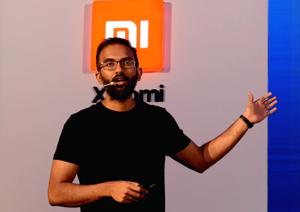 Xiaomi India Head of Online Sales Raghu Reddy addresses at the launch of Xiaomi smartphones- Redmi Y3 and Redmi 7, in Kolkata, on April 25, 2019. - Sales Raghu Reddy