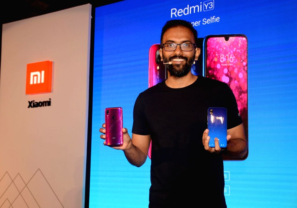 Xiaomi India Head of Online Sales Raghu Reddy at the launch of Xiaomi smartphones - Redmi Y3 and Redmi 7, in Kolkata, on April 25, 2019. - Sales Raghu Reddy