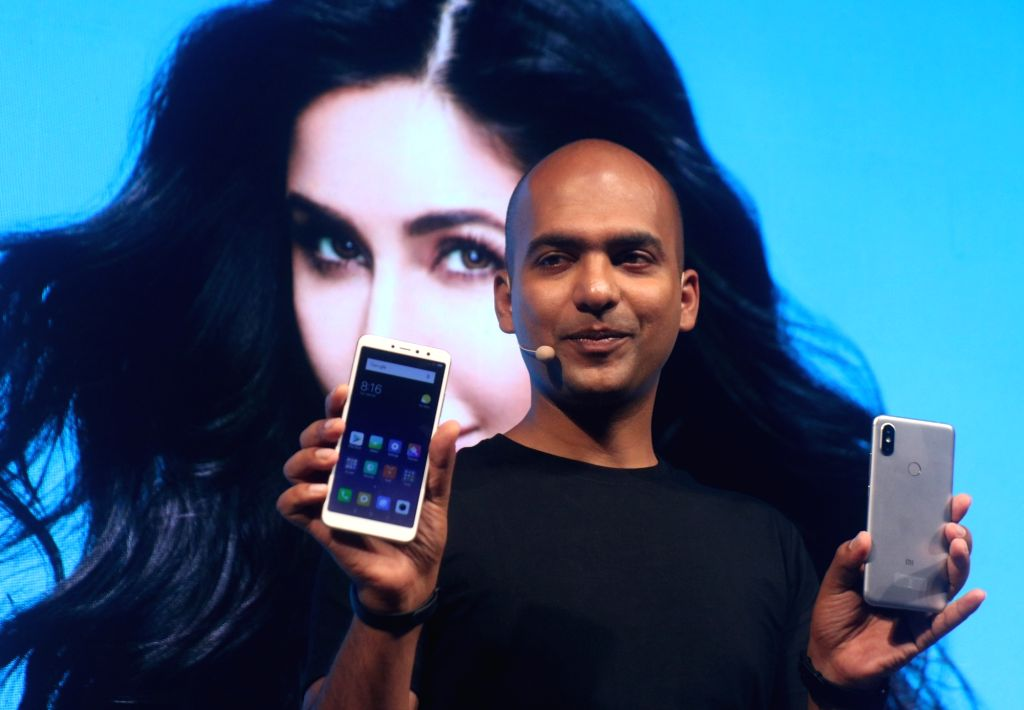 Xiaomi India Vice President and Managing Director Manu Jain during the launch of Xiaomi Redmi Y2 smartphone, in New Delhi on June 7, 2018. - Manu Jain