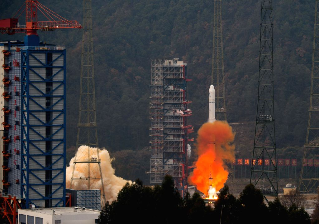 A Long March-3A rocket carrying meteorological satellite Fengyun-II 08 blasts off from the launching pad at Xichang Satellite Launch Center, southwest China's ...