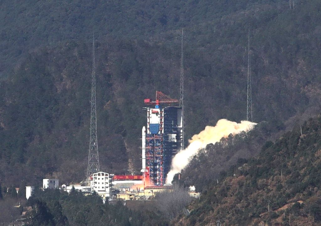 XICHANG, Jan. 25, 2018 - China launches remote sensing satellites at 1:39 p.m.(Beijing Time) on a Long March-2C carrier rocket from Xichang Satellite Launch Center in southwest China's Sichuan ...