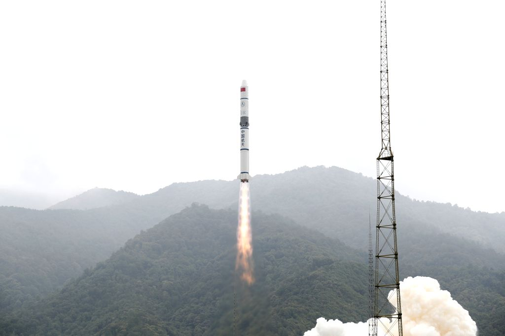 XICHANG, July 26, 2019 - A Long March-2C carrier rocket carrying a group of new remote sensing satellites blasts off from the Xichang Satellite Launch Center, southwest China's Sichuan Province, July ...