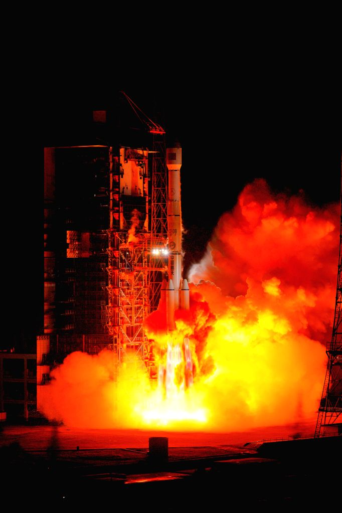 XICHANG, Oct. 18, 2019 - A new communication technology experiment satellite is launched by a Long March-3B carrier rocket at the Xichang Satellite Launch Center in Xichang, southwest China's Sichuan ...