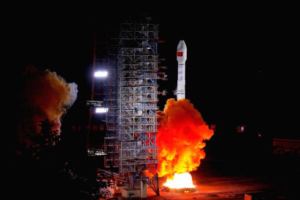 XICHANG, Sept. 23, 2019 - China sends two satellites of BeiDou Navigation Satellite System (BDS) into space from the Xichang Satellite Launch Center in Xichang, southwest China's Sichuan Province, ...