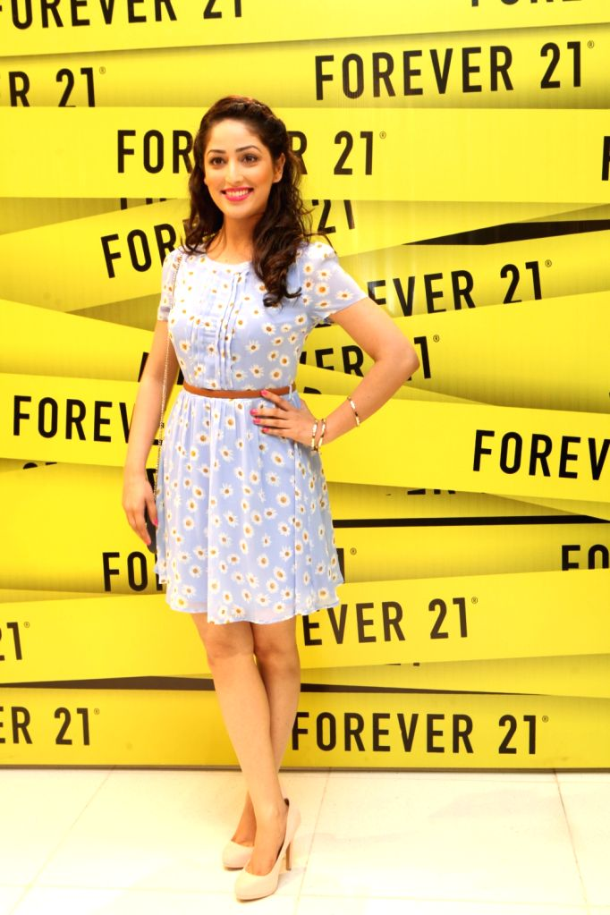 Yaami Gautam at the Forever 21 store launch at Pacific Mall, New Delhi.