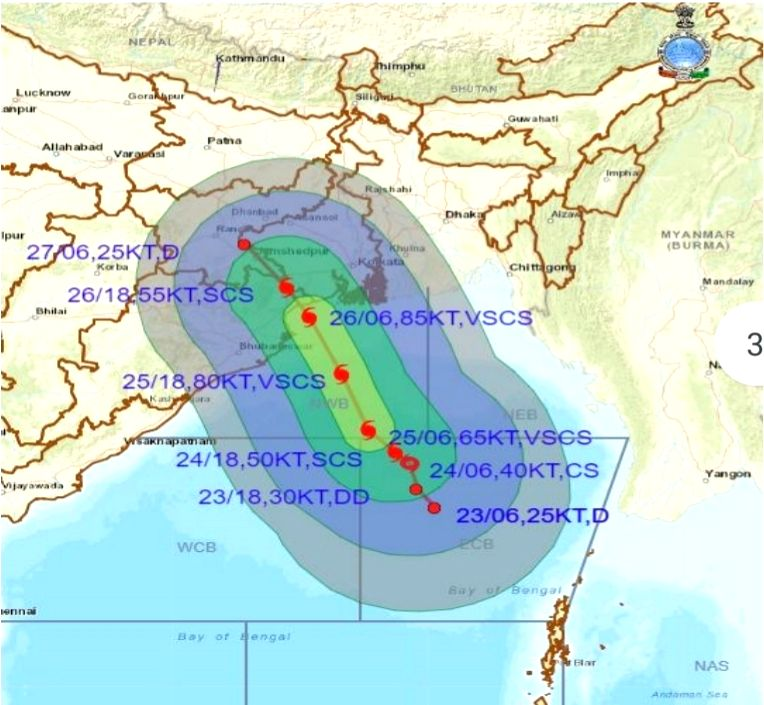 Yaas likely to intensify into cyclonic storm by May 24