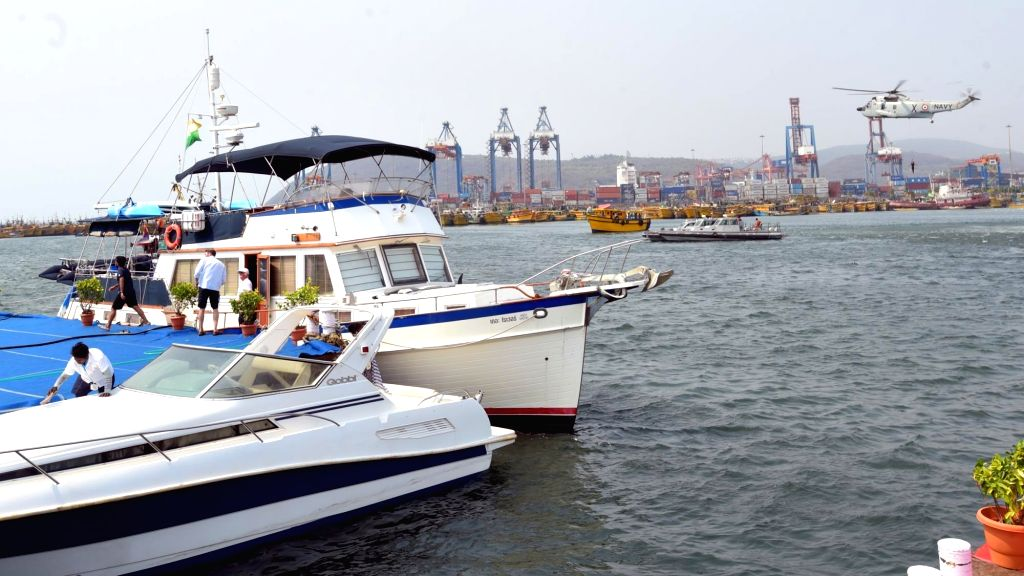 yachts sailing along Vizag coast