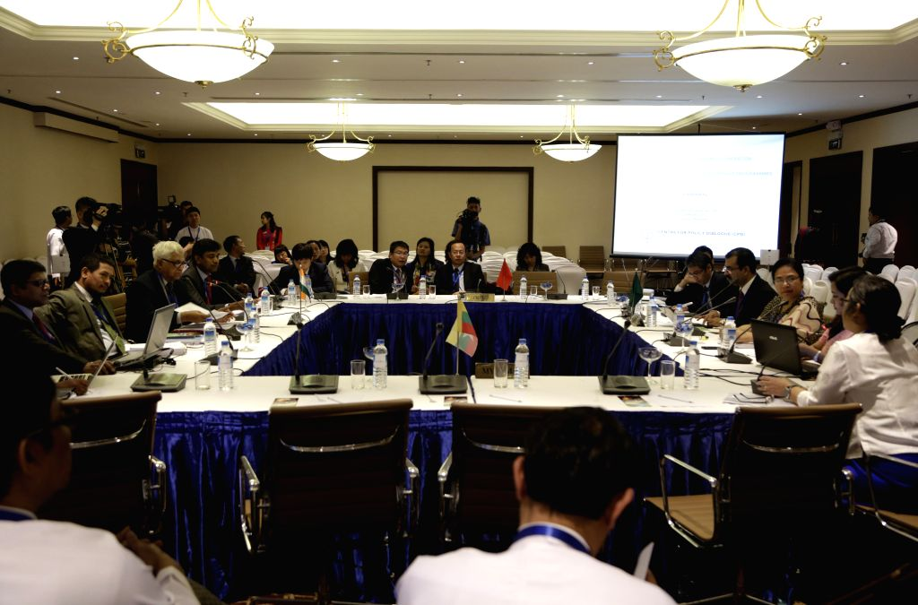 Photo taken on Feb. 10, 2015 shows a scene of the opening ceremony of the 12th forum of Bangladesh, China, India and Myanmar (BCIM) regional cooperation in Yangon, ..
