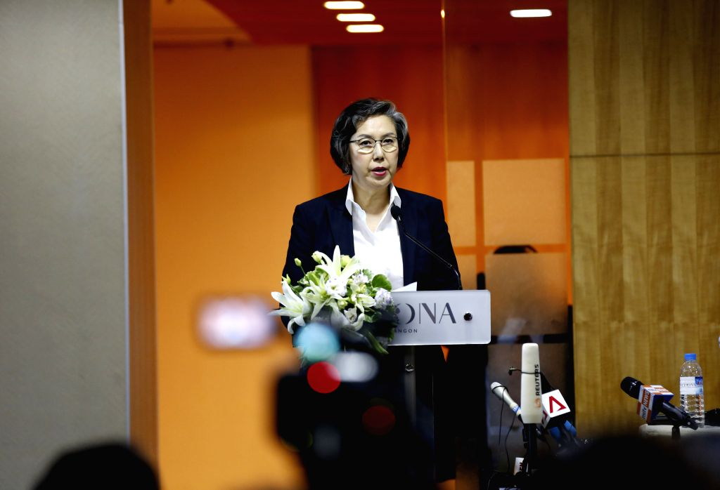 YANGON, July 2, 2016 - United Nations Special Rapporteur on human rights in Myanmar Yanghee Lee speaks to media during a press conference in Yangon, Myanamr, July 1, 2016. Yanghee Lee highlighted ...