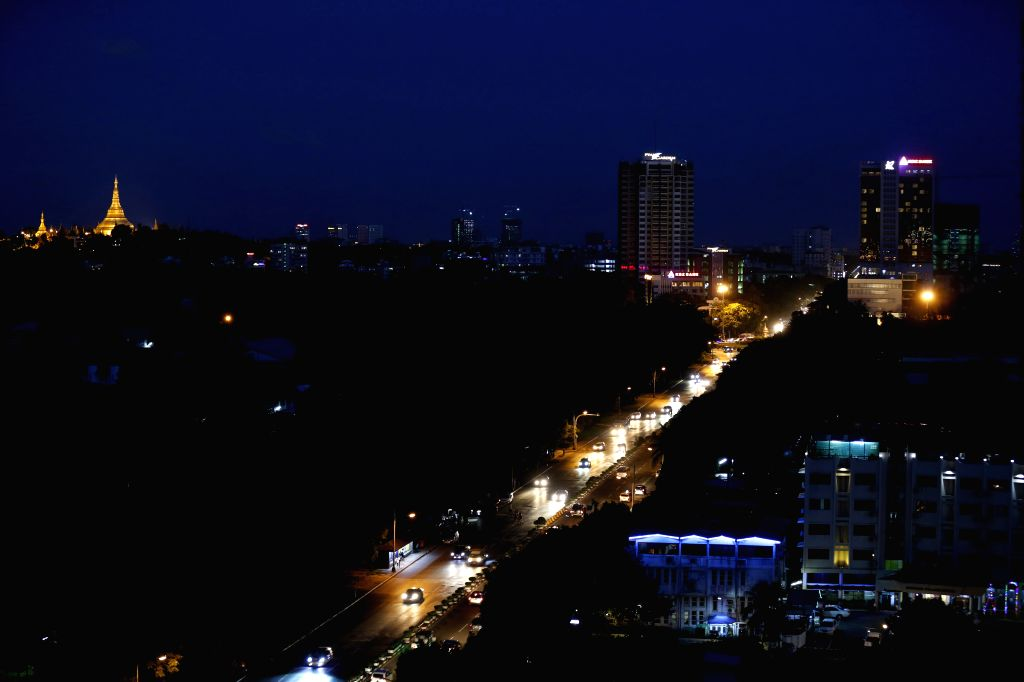 YANGON, June 19, 2016 - Photo taken on June 18, 2016 shows a night view in Yangon, Myanmar. French Minister for Foreign Affairs and International Development Jean-Marc Ayrault said on Friday France ...