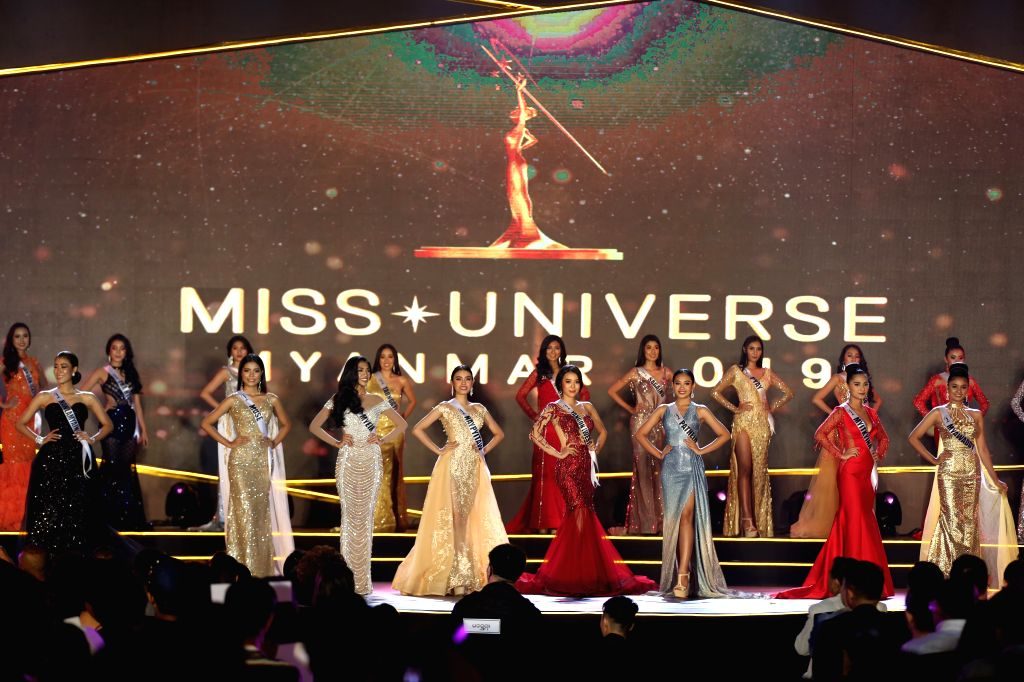 "YANGON, May 31, 2019 - Contestants participate in Miss Universe Myanmar 2019 in Yangon, Myanmar, May 31, 2019. Swe Zin Htet, from Myanmar's Kayin state, was crowned the title of ""Miss Universe ..."