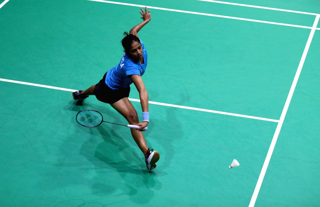 YANGON, Sept. 12, 2019 - Gayatri Gopichand Pullela of India competes during the women's singles 2nd round match against Maharani Sekar Batari of Indonesia at the Myanmar International Series 2019 in ...
