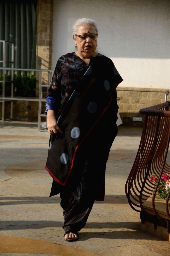 Yash Chopra Memorial Award jury member - script writer Honey Irani arrives to attend a press conference to announce the winner of the prestigious award in Mumbai on Jan 28, 2018. Bollywood ... - Asha Bhosle and Irani