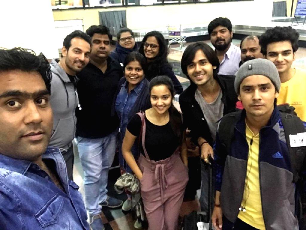 Yeh Un Dinon Ki Star-cast at Udaipur airport.