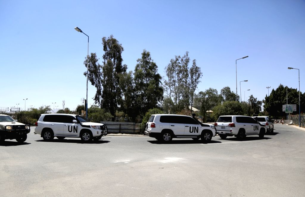 YEMEN, Feb. 18, 2019 - Convoy of the UN special envoy to Yemen Martin Griffiths arrives at the Sanaa International Airport, Yemen, on Feb. 18, 2019. The United Nations Special Envoy to Yemen Martin ...