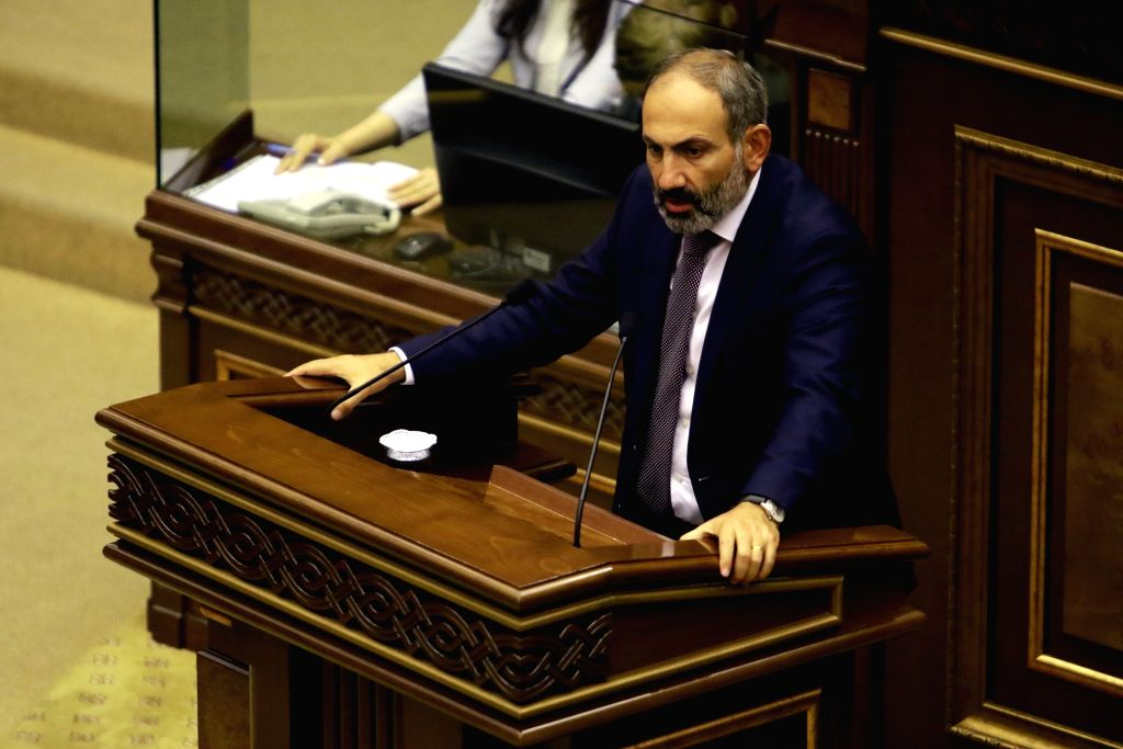 Yerevan, June 1 (IANS) Armenia's Prime Minister Nikol Pashinyan announced via Facebook on Monday that he and his family have tested positive for COVID-19. - Nikol Pashinyan