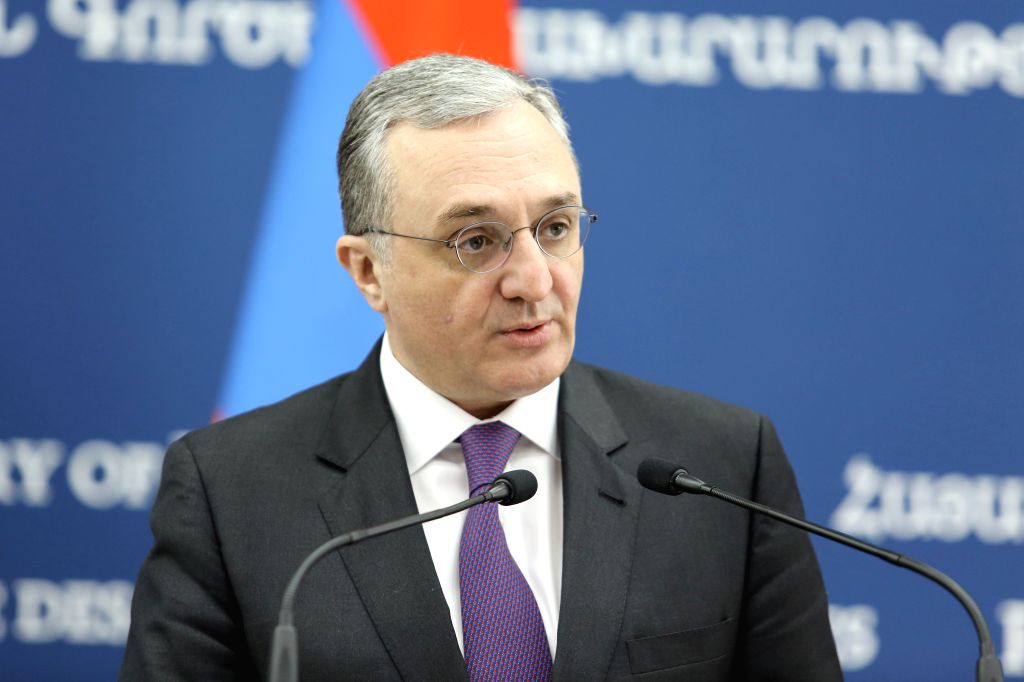 YEREVAN, March 14, 2019 - Armenian Foreign Minister Zohrab Mnatsakanyan attends a press conference in Yerevan, Armenia, March 13, 2019. The Organisation for Security and Cooperation in Europe (OSCE) ... - Zohrab Mnatsakanyan