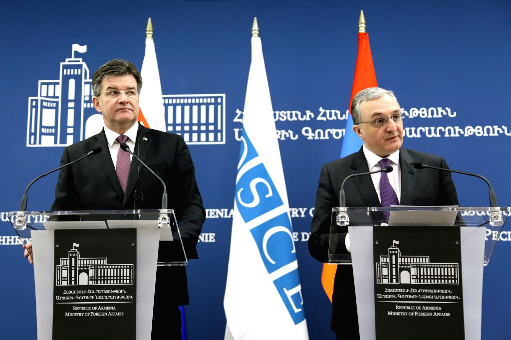 YEREVAN, March 14, 2019 - Miroslav Lajcak (L), chairman-in-office of the Organization for Security and Cooperation in Europe (OSCE) and Slovak foreign minister, and Armenian Foreign Minister Zohrab ... - Zohrab Mnatsakanyan