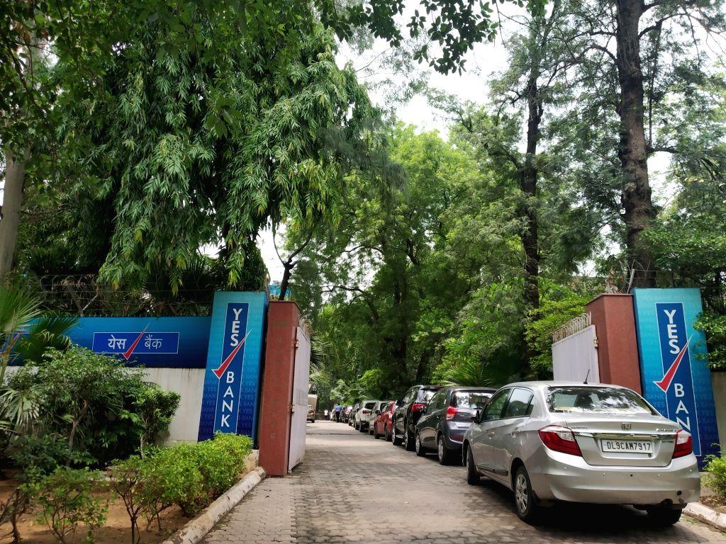 Yes Bank's Chanakyapuri branch on Nyaya Marg in New Delhi. (File Photo: IANS)