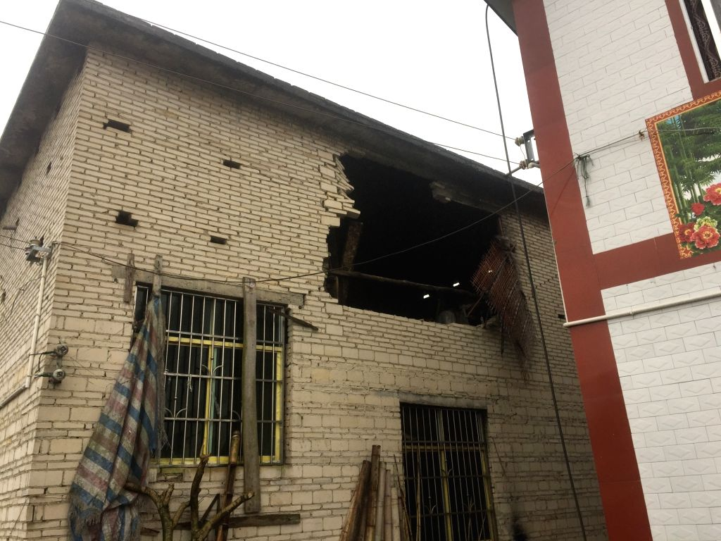 YIBIN, Jan. 3, 2019 - A damaged house is seen at the earthquake-hit Yangjia Village of Yuhe Township in Gongxian County, Yibin City in southwest China's Sichuan Province, Jan. 3, 2019. A ...