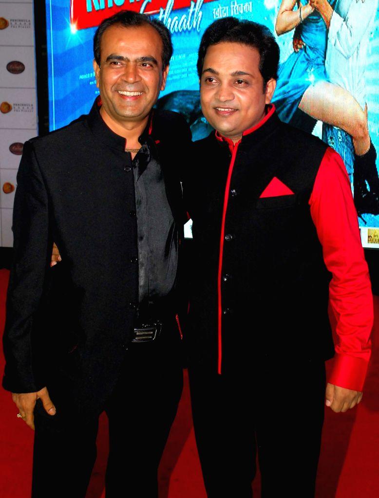 Yogesh Lakhani & Aatri Kumar during the trailer and music launch of film Khota Sikka in Mumbai on Aug 31, 2014. - Aatri Kumar