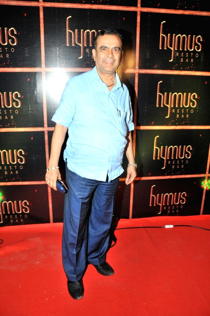 Yogesh Lakhani during the party organised to celebrate the opening of Hymus Resto Bar in Mumbai, on August 12, 2016.