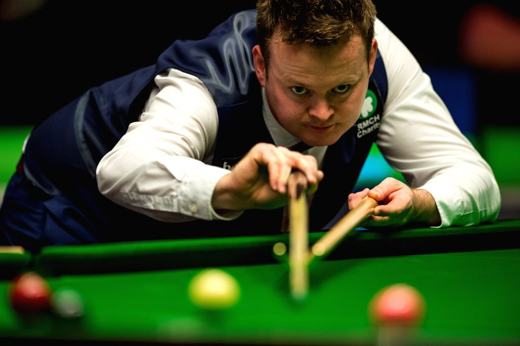 YORK, Dec. 1, 2016 - Shaun Murphy of England competes during the fourth round match with Zhou Yuelong of China at the Snooker UK Championship in York, Britain on Nov. 30, 2016. Shaun Murphy won 6-2 ...