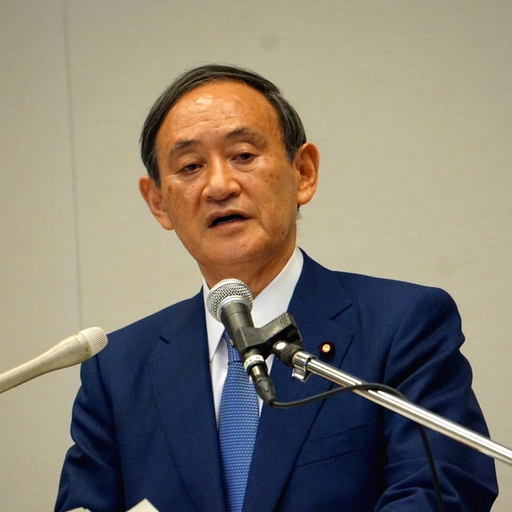 Yoshide Suga elected leader of Japan's ruling party.