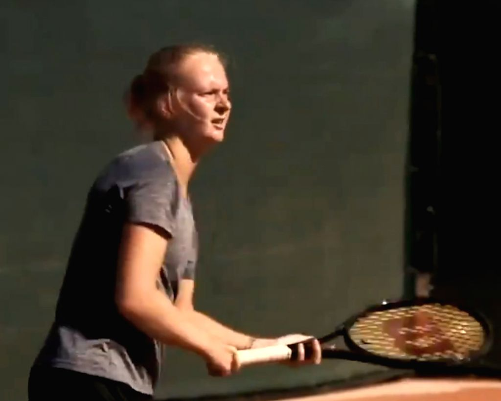 You are wrong: British player tells her doctors with Oz Open q'fication (Credit: @ITFTennis/twitter)