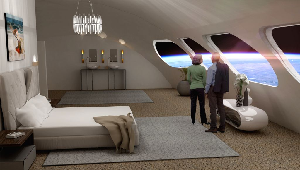 You could soon check into a 'space hotel'. (photo:Twitter Orbital Assembly Corporation)