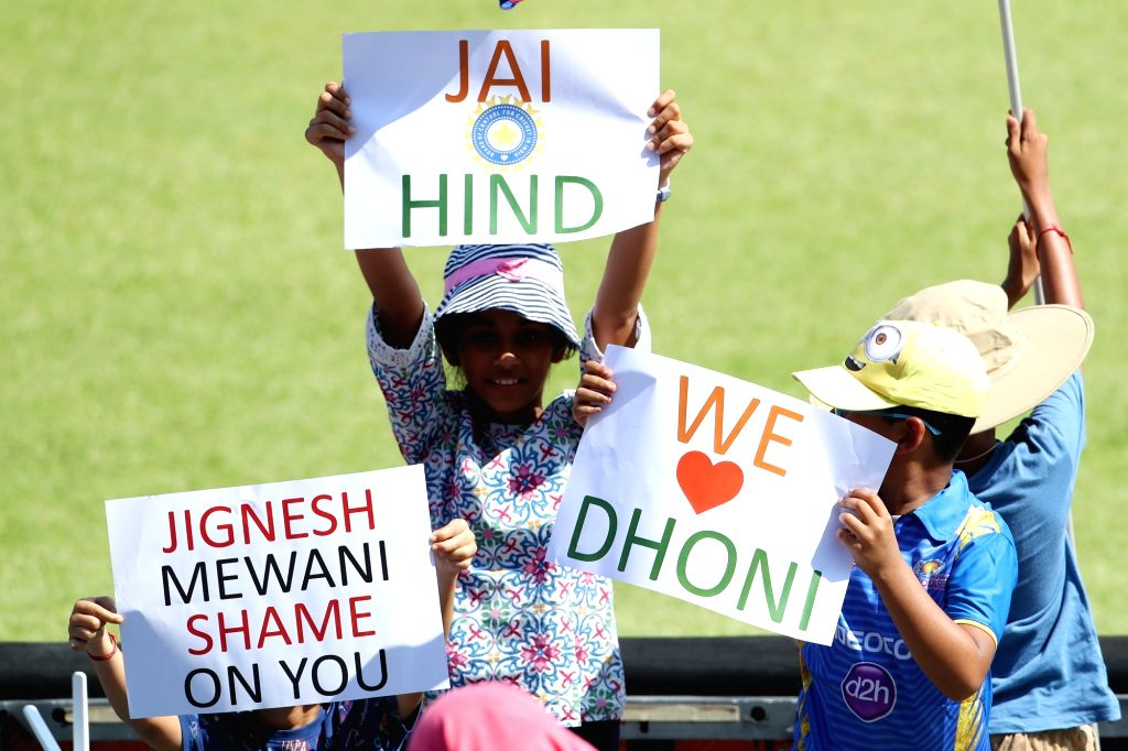 Young Indian fans during the 1st ODI match between India and South Africa at Kingsmead Cricket Ground in Durban, South Africa on Feb 1, 2018.
