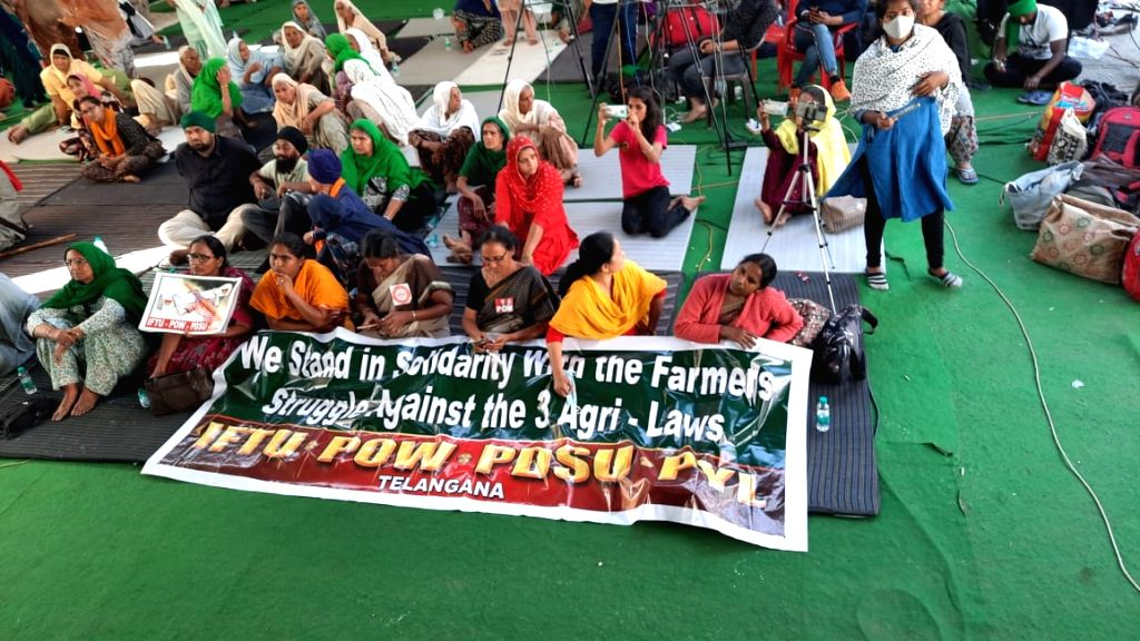 Youth on the 'Youth Farmers Day' border protested against agricultural law, organized the forum.