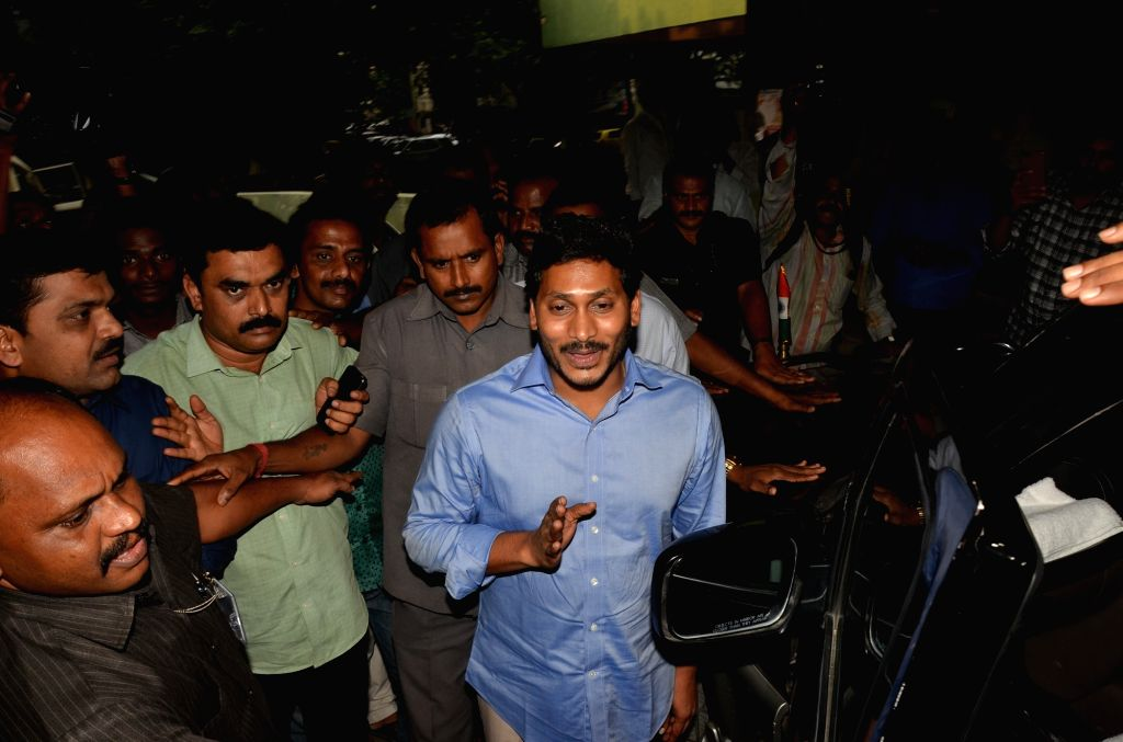 YSR Congress chief Y.S. Jagan Mohan Reddy appears before CBI court in Hyderabad, on Oct 13, 2017.
