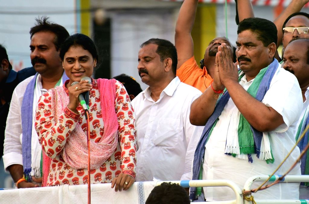 Andhra Pradesh Assembly polls - Y S  Sharmila during