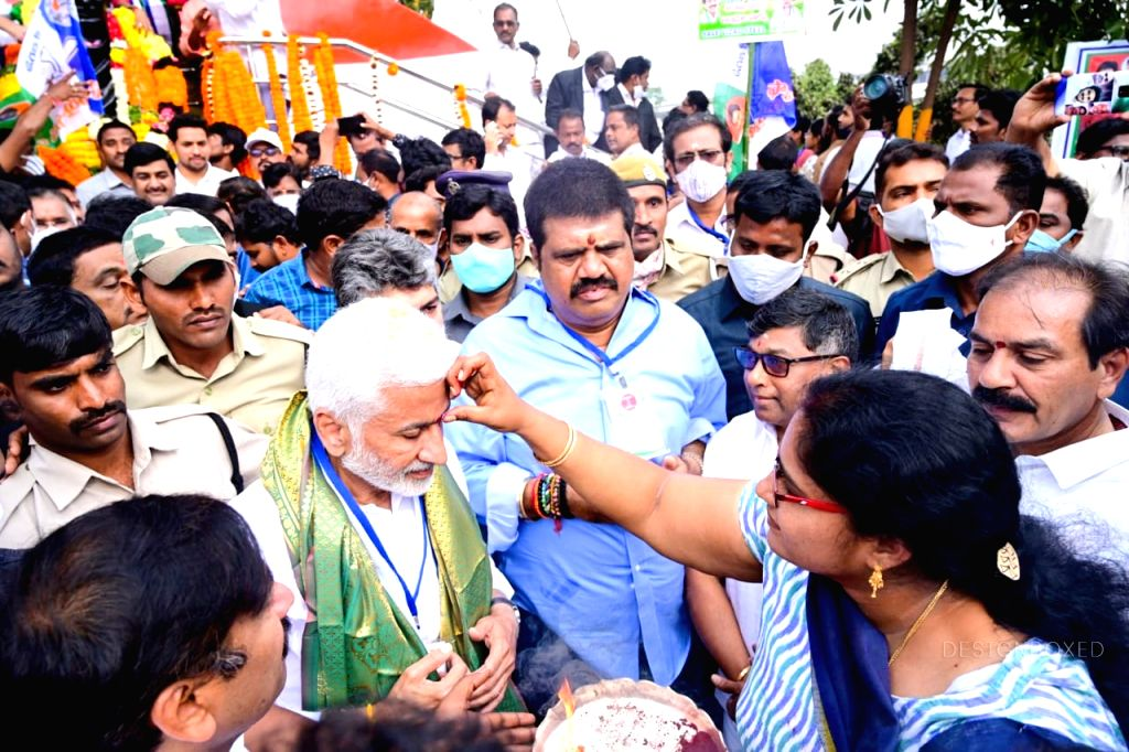 YSRCP leaders, cadres do padayatra in Vizag for steel plant