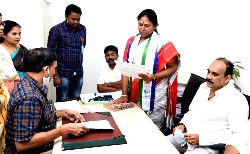 YSRCP pick Sunitha files second set for Andhra MLC nomination