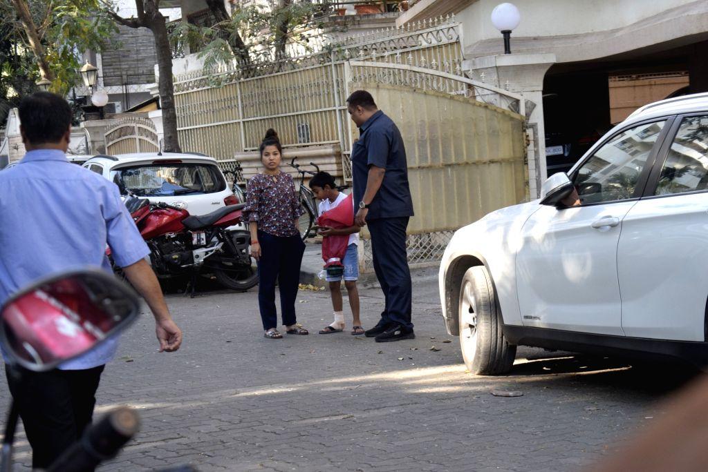 Yug Devgan, son of actor Ajay Devgan seen in Mumbai's Juhu, on Feb 24, 2019. - Ajay Devgan