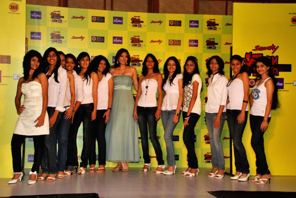 Yukta Mookhey at Miss Teen Contest press meet.