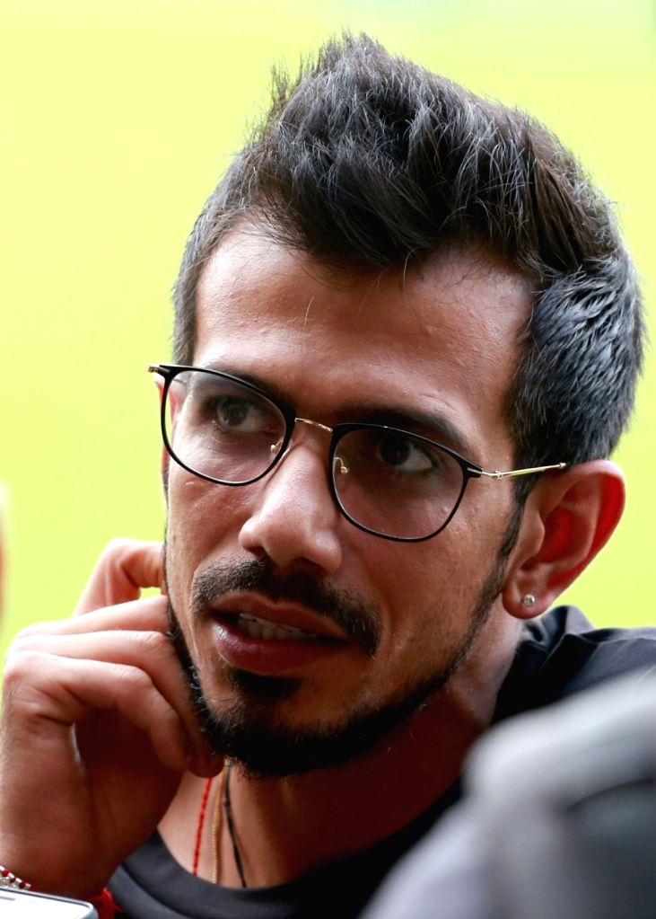 Yuzvendra Chahal of Royal Challengers Bangalore during a practice session ahead of IPL 2018 at M. Chinnaswamy Stadium in Bengaluru, on April 3, 2018.