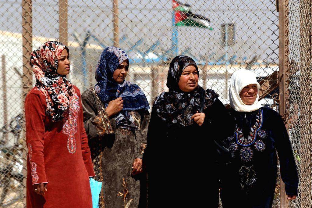 ZAATARI (JORDAN), Oct. 4, 2017 Syrian refugees are seen at Zaatari refugee camp, some 70 km north of Jordanian capital of Amman, on Oct. 4, 2017.