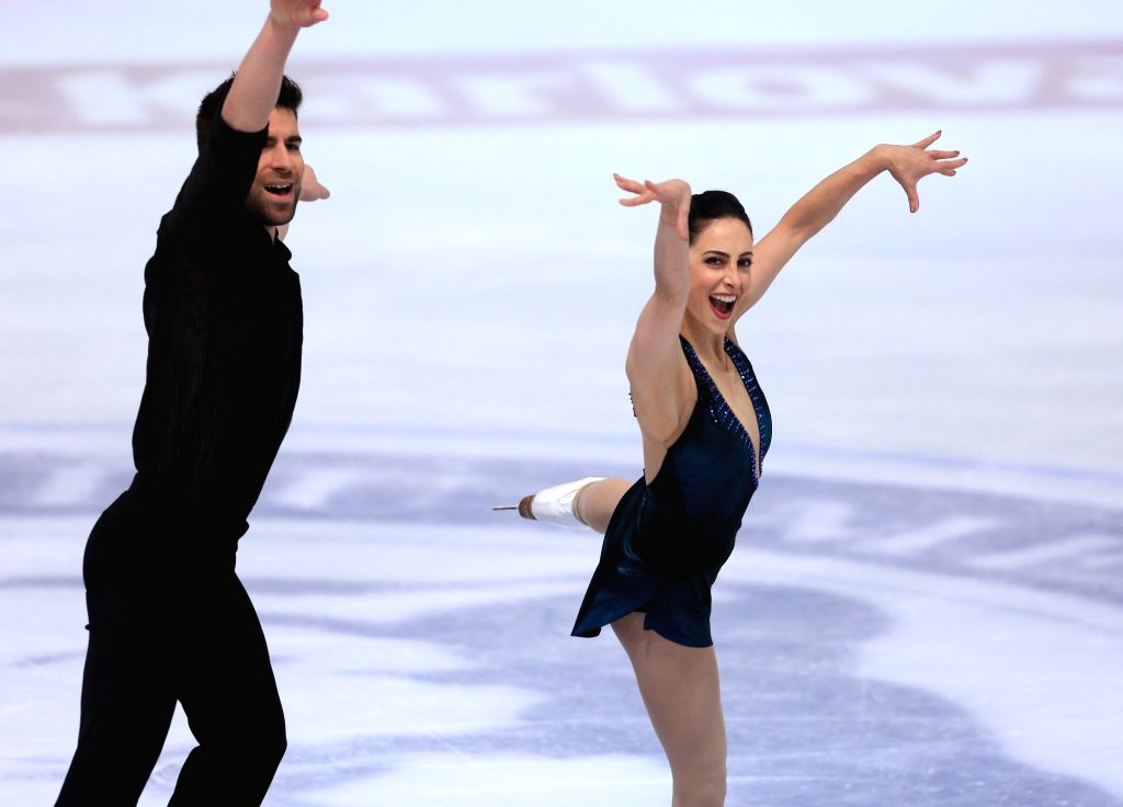 ZAGREB, Dec. 8, 2018 - Deanna Stellato Dudek (R) and Nathan Bartholomay of the United States perform during the Pairs Free Skating at the ISU Golden Spin of Zagreb 2018 in Zagreb, Croatia, on Dec. 7, ...