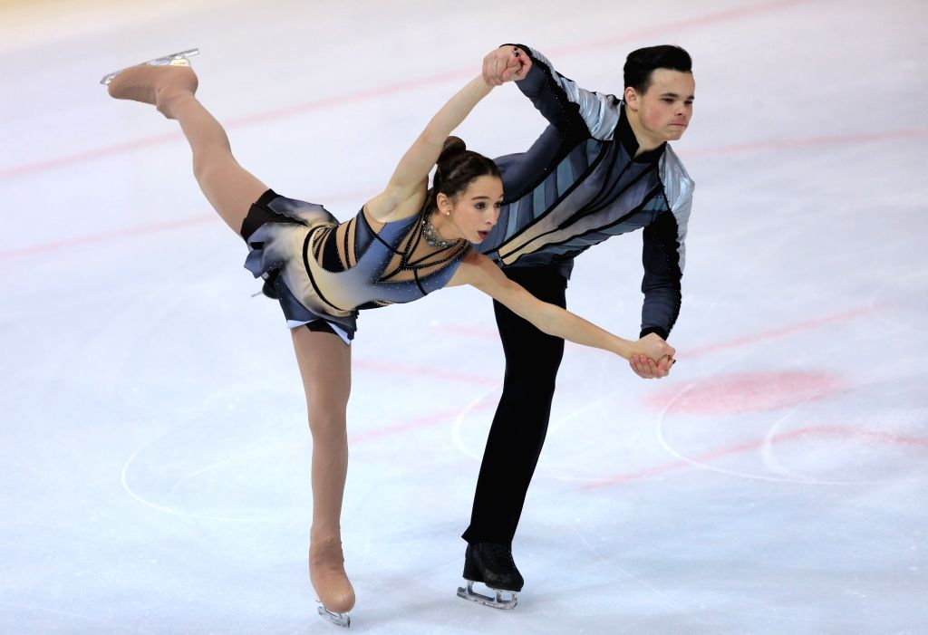 ZAGREB, Dec. 8, 2018 - Hailey Esther Kops (L) and Artem Tsoglin of Israel perform during the Pairs Free Skating at the ISU Golden Spin of Zagreb 2018 in Zagreb, Croatia, on Dec. 7, 2018.