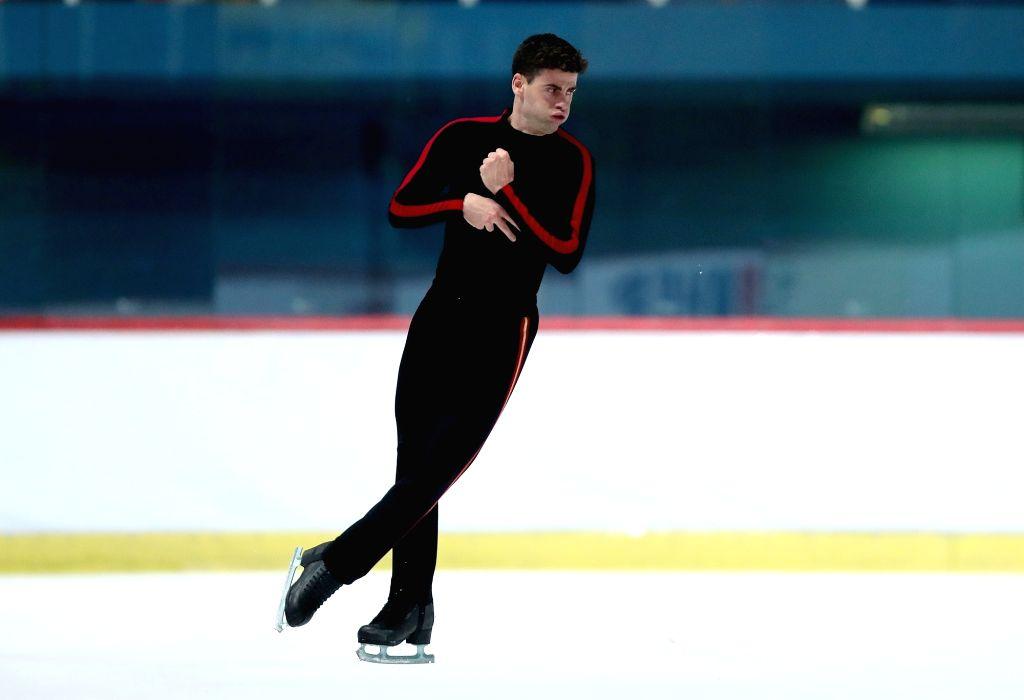 ZAGREB, Dec. 8, 2018 - Javier Raya of Spain performs during the Men Free Skating at the ISU Golden Spin of Zagreb 2018 in Zagreb, Croatia, on Dec. 7, 2018.