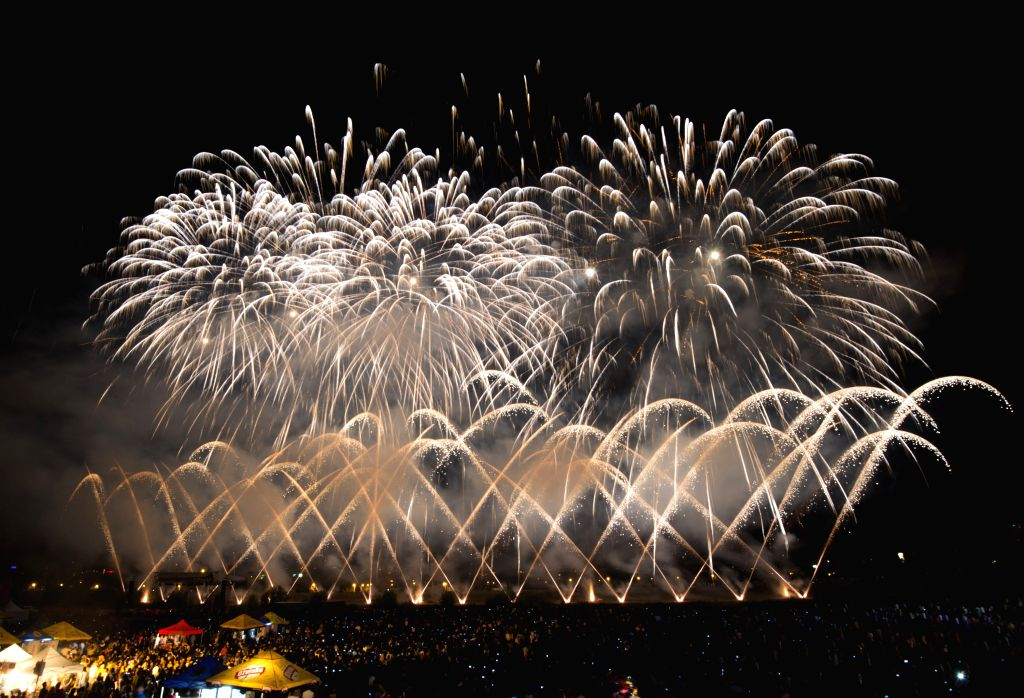 Fireworks light up the sky during the 14th International Fireworks Festival at Bundek Lake in Zagreb, Croatia, July 6, 2014. Pyrotechnic teams from Belgium, France ...
