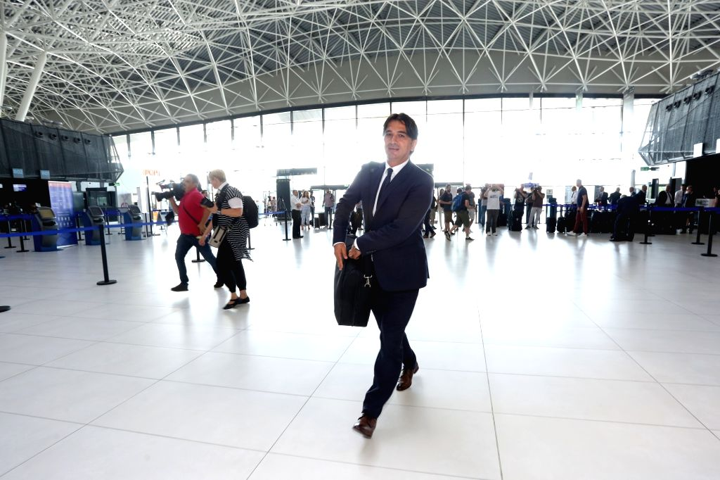 ZAGREB, June 12, 2018 - Croatian national football team's coach Zlatko Dalic arrives at Franjo Tudman Airport before departing for Russia for the FIFA World Cup 2018, in Zagreb, Croatia, on June 11, ...