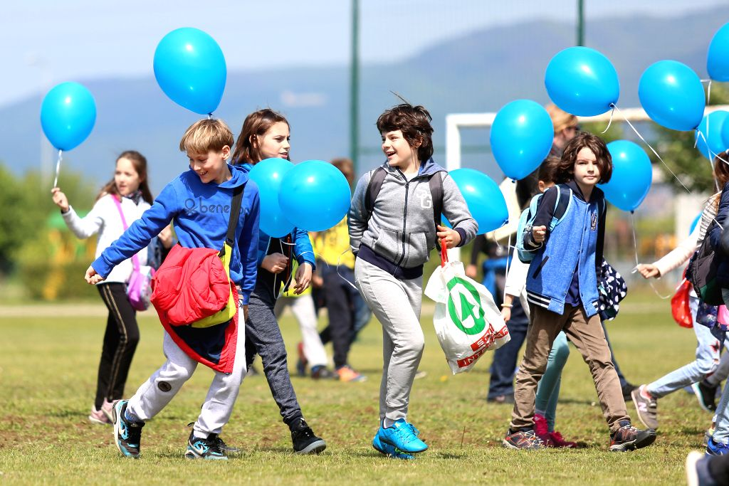 ZAGREB, May 10, 2017 - Children take part in the activities during the national earth day in Zagreb, capital of Croatia, May 10, 2017. The national earth day this year special focused on the ...