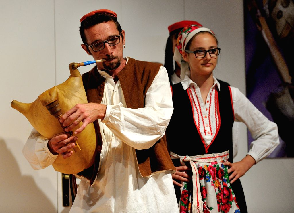 ZAGREB, Sept. 30, 2016 - Participants from Croatia perform during the 10th Croatian Bagpipe Festival in Zagreb, Croatia, Sept. 30, 2016. Musicians from nine countries took part in the six days ...