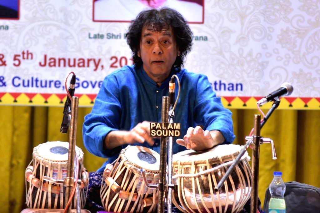 Zakir Hussain. (Photo: Ravi Shankar Vyas/IANS)